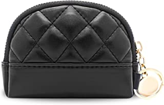 Leather Coin Purse for Women Change Purse With Zipper Holder for Change, Earphone, Cards, and Lipstick