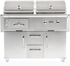 Coyote 50-inch Freestanding Natural Gas/Charcoal Dual Fuel Grill