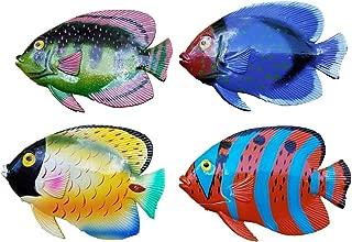 Vibrant & Exotic Set of (4) Decorative Tropical Wall Decor Hanging Fish