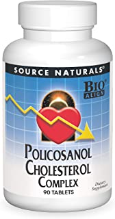 SOURCE NATURALS Policosanol Cholesterol Complex Tablet, 90 Count