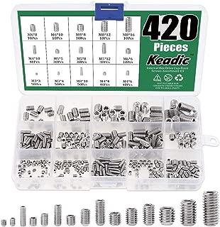 MroMax M4x5mm Hex Socket Set Coarse Thread Socket Set Screw Cone Point Screws 304 Stainless Steel 50pcs