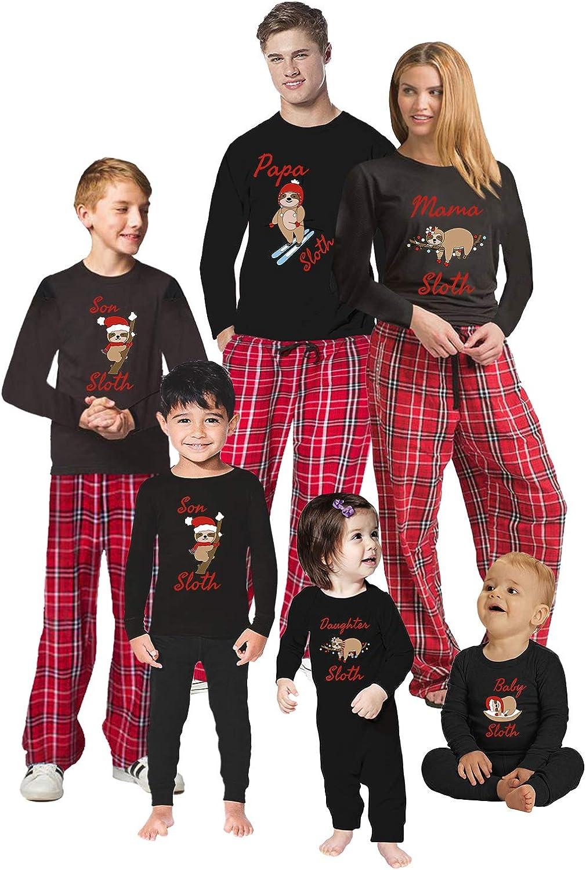 Awkward Styles Christmas Pajamas for Family Xmas Sloth Matching Christmas Sleepwear