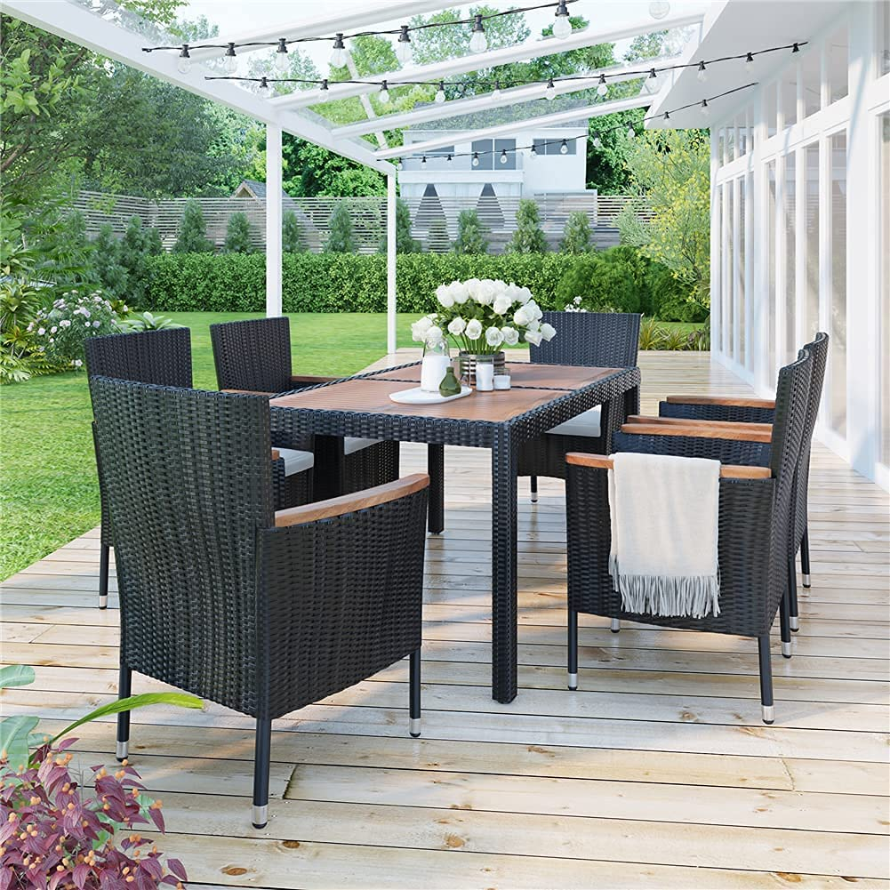 Xkun 7 Pieces of Great interest Outdoor Mail order Conversation Furniture Classified Soft
