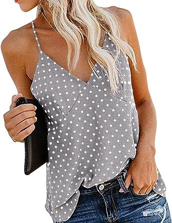 Mujer Camisola de Verano Cami Tank Tops Dama Color Solido ...