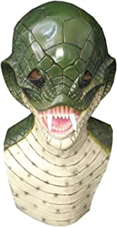 DylunSky New Halloween Lovely Frog Latex Mask Scary Cobra Snake Tricky Toy (Cobra)