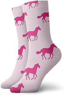 Kevin-Shop, Calcetines Unisex para Hombres Caballos galopando Calcetines de Arte Fresco Calcetines al Aire Libre Calcetines de Spandex