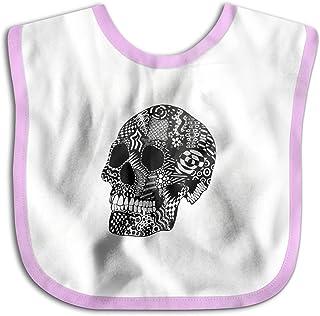 UBCATDESA Skull Head Baby Bibs, Unisex Baby Soft Cotton Easily Clean Teething Bibs(Blue&Pink)