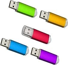 KALSAN 8GB USB Flash Drives 5 Pack USB 2.0 8GB USB Thumb Drive Multicolor-Red,Orange,Blue,Red,Purple