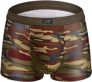 Mens Breathable Comfortable Cotton Comfy Underwear Boxer Briefs