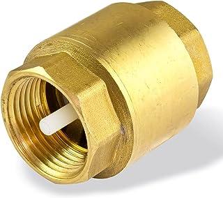 gold Dampf und andere Medien R/ückschlagventil SENRISE 1//2 bis 3,8 cm Federr/ückschlagventil Single Messing R/ückschlagventil f/ür Wasser /Öl