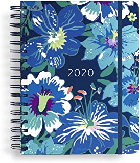"$28 » Vera Bradley Large 17 Month Daily Planner, August 2019 - December 2020, 8.75"" x 7.25"" with Stickers and Daily, Weekly, Monthly Views, Moonlight Garden"