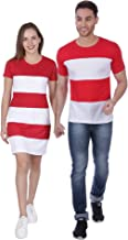 ADYK Cotton Couple T-Shirts Red White Koreans (Pack of 2)