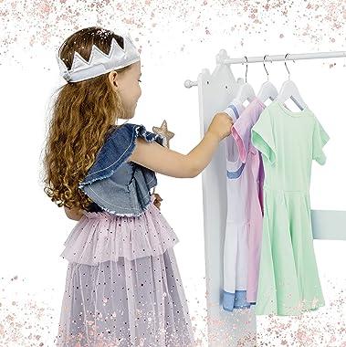 Milliard Dress Up Storage Kids Costume Organizer Center, Open Hanging Armoire Closet Unit Furniture