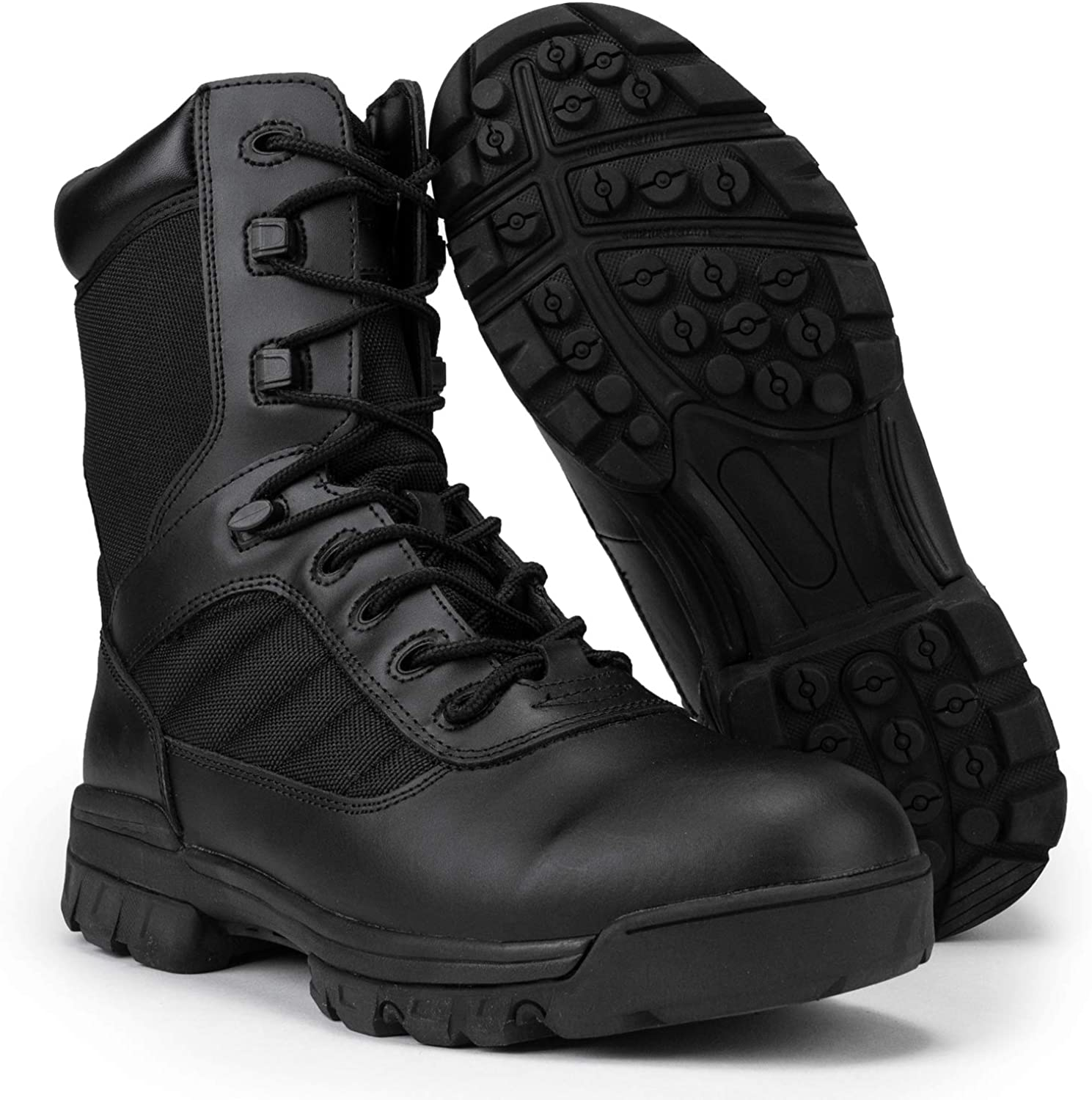 RYNO GEAR Men's Black Tactical Lining Max 71% OFF Boots with Super sale period limited CoolMax Combat