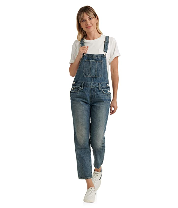 Lucky Brand  Denim Boyfriend Overall in Assi (Assi) Womens Jumpsuit and Rompers One Piece