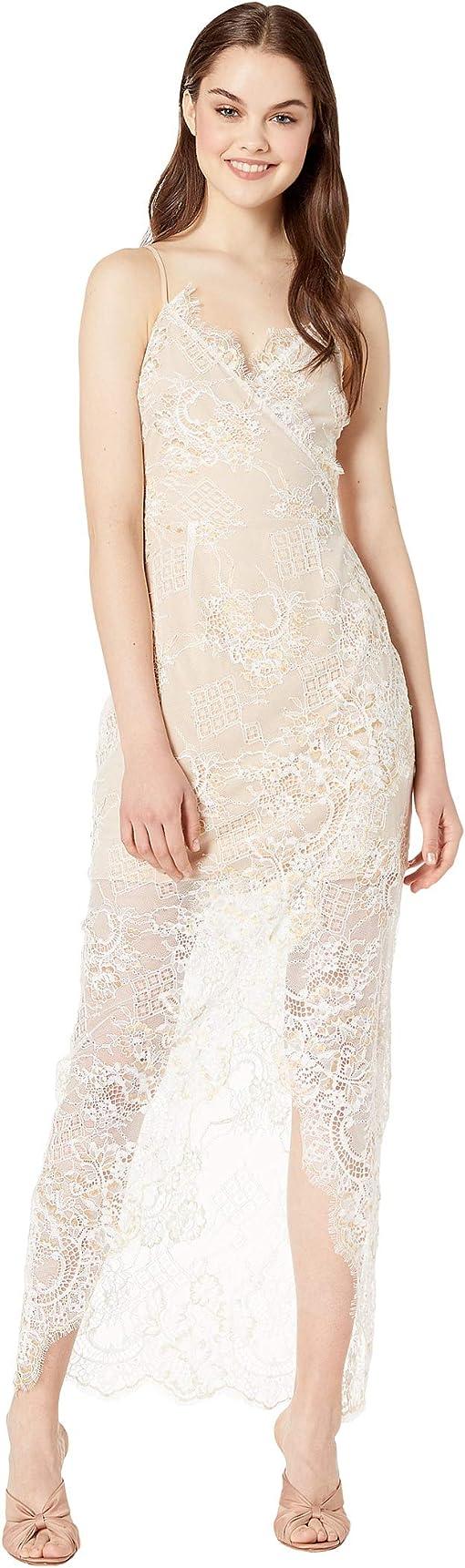 Ivory Foil Lace