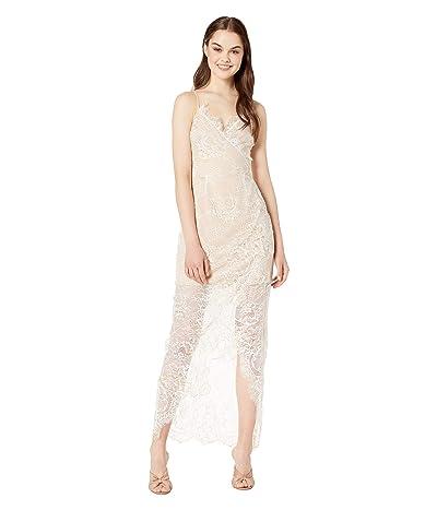 WAYF Gwen Lace Wrap Maxi Dress (Ivory Foil Lace) Women