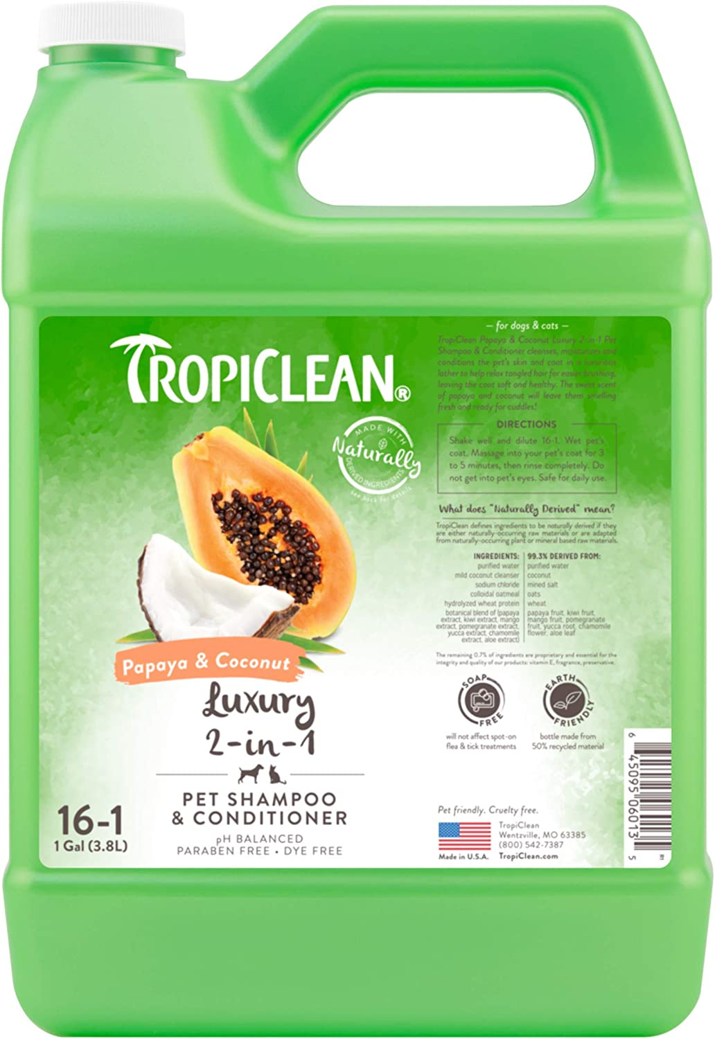 Max 73% OFF TropiClean Shampoos for Pets Made in - USA Derived In Naturally Ranking TOP12