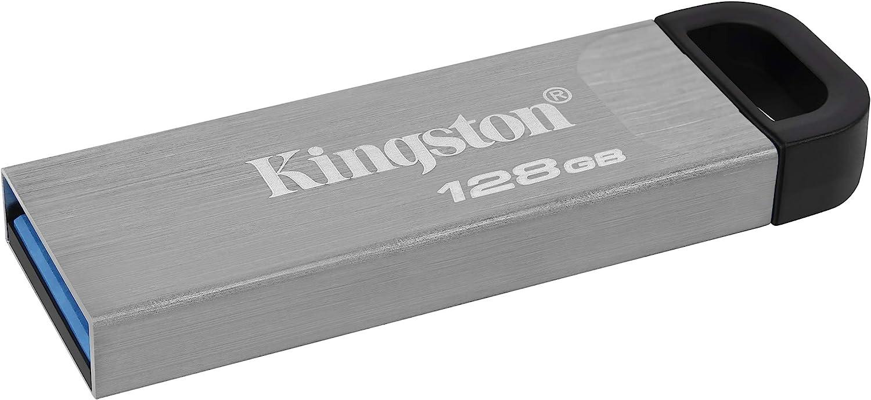 Kingston DataTraveler Kyson USB-Stick USB3.2 64GB mit stilvollem kappenlosem Metallgeh/äuse