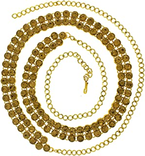 Anuradha Art Golden Finish Classy Studded With Shimmering Stone Kamarpatta Traditional Kamarband Waist Chain/Belly Chain F...