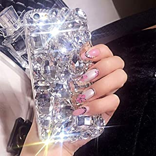 Case for LG Stylo 3,Luxury 3D Handmade Sparkle Stunning Stones Crystal Rhinestone Bling Full Diamond Gemstone Glitter Case for LG Stylo 3 Plus/LG Stylus 3/LG LS777(A Full White)