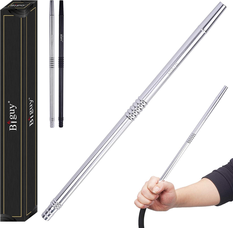 Biguy® Boquilla Shisha Alum Boquilla de Aluminio Longitud 36 cm -Mango de Aluminio -Combinable con Todas Las mangueras Disponibles comercialmente