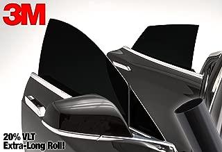 3M 20% VLT Dark Black Car Window Tint Vinyl Wrap Roll (20 Inch x 72 Inch Long Roll Pack)