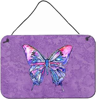 Caroline's Treasures Butterfly on Purple Aluminum Metal Wall or Door Hanging Prints, 8 x 12, Multicolor