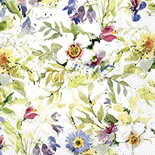 Boston International L815500 3-Ply Paper Lunch Napkins, 20-Count, Packed Flowers