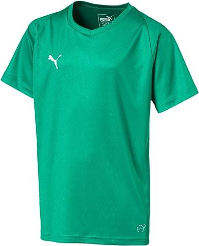 Puma LIGA Jersey Core Jr T-Shirt UNISEX ENFANT, Black White, 176