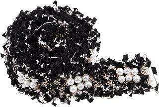 Garneck 5 Rollos Cintas de Encaje Adornos de Encaje Cintas de Artesan/ía de Encaje El/ástico para Decoraciones Nupciales de La Boda Diy Artesan/ía Costura Blanca 20 Mm