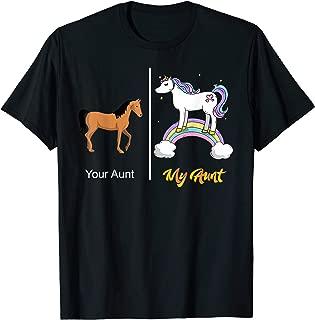 Your Aunt My Aunt Unicorn T-Shirt | Funny Rainbow Tee