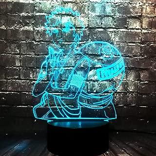 Creative Holiday Boyfriend Gift Classic Cartoon Naruto Anime SABAKUNO Gaara 3D Acrylic LED 7 Color Change Decor Room Table Mood Warm Night Light Kids Fans Present(SABAKUNO Gaara)