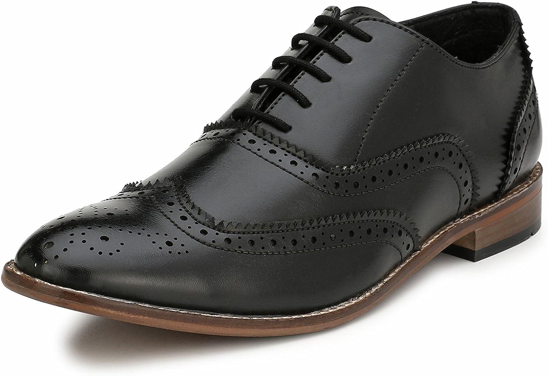 Eego Italien svart elegant herrar Formal Formal Formal Wing Tip Brogue  med billigt pris för att få bästa varumärke