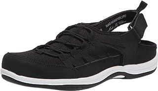 حذاء رياضي رياضي للسيدات من Easy Street، جلد أسود، 7