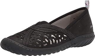 JBU by Jambu womens Pecan Loafer Flat, Black, 8.5 US