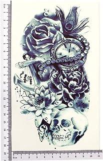 2 x ARM TATTOO SCHWARZ bis DUNKEL BLAU Temporäres Tattoo zu
