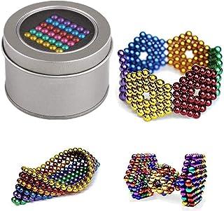 Magic Building Ball Toys,Puzzle Magic Cubes,Creative Stress Relief Desk Toy Construction 3D Puzzle Toy for Adults/Kids-gold 1000pcs 5mm 10colour