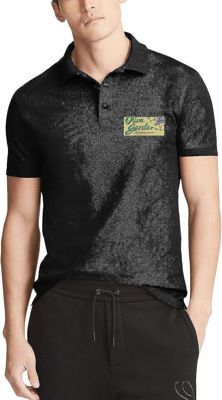 YOUERY61UAN Mens Polo Shirt Olive-Garden-Italian-Restaurant-Comfortable 100/% Cotton Classic T Shirt