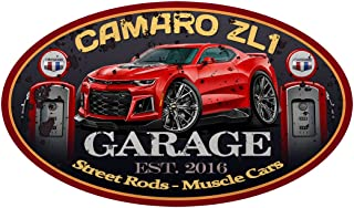 2016 2017 2018 Camaro ZL1 ZL-1 GARAGE SIGN Wall Art Graphic Decal Sticker (3 Ft) (2 Ft)