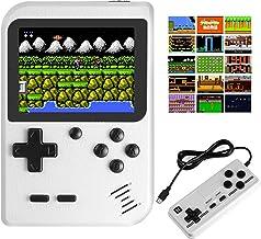 کنسول دستی پسرانه JAMSWALL ، 400 Classical FC Games 2.8 اینچی صفحه نمایش 800 میلی آمپری باتری قابل شارژ قابل حمل یکپارچهسازی با سیستمعامل کنسول بازی ویدیویی پشتیبانی از اتصال تلویزیون و دو بازیکن (سفید)