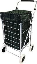 Oypla 4Roues Pliante Shopping Chariot de mobilité Sac Chariot du marché à Linge