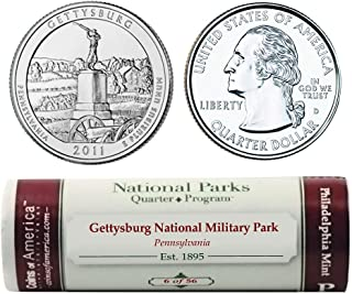 Gettysburg National Parks Quarters P Mint Roll