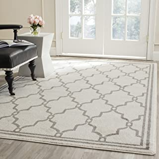 Safavieh Amherst Collection AMT414K Ivory and Grey Indoor/ Outdoor Area Rug (8' x 10')