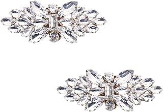 ElegantPark Fashion Decorative Rhinestones Shoes Clutch Dress Hat Shoe Clips 2 Pcs