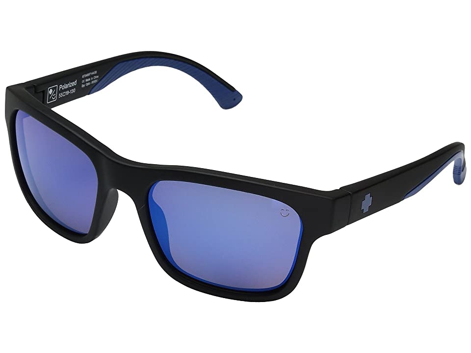 Spy Optic Hunt (Matte Black Navy/Happy Bronze Polar/Dark Blue Spectra) Athletic Performance Sport Sunglasses