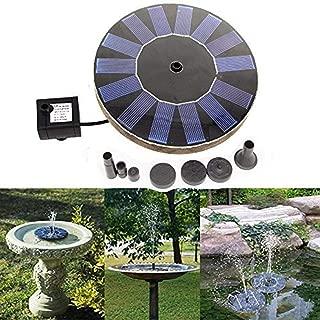 SHSYCER Solar Powered Bird Bath Water Fountain Solar Panel Kit Water Fountain Water Pump for Bird Bath Fish Tank Decorations Small Pond Pump Garden