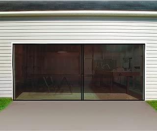 Screen for Garage Door 10x10 Ft Single Garage Door Curtain with Hook/&Lpoop Eeay to Install Fiberglass Black Garage Screen Door for 1 Car Garage