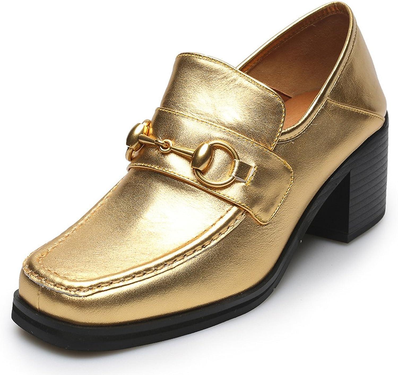 Nio Sju äkta äkta äkta läderskor på too Chunky Heel Slip on Handgjorda Comfort Dress Pump skor  professionellt integrerat online köpcentrum