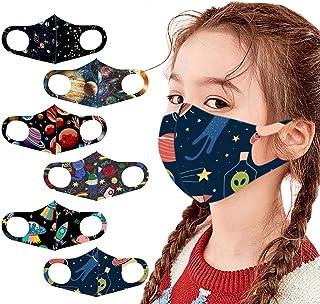 Children Costume Cotton Face_Masks Dinosaur Cartoon Pattern Washable Bandanas for Kids Students